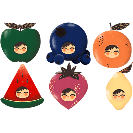 Stickers fruits