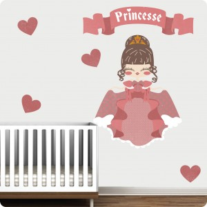 kanzilue stickers mural princesse