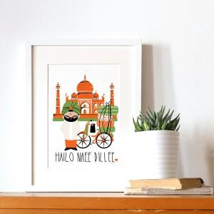 Affiche bonjour inde