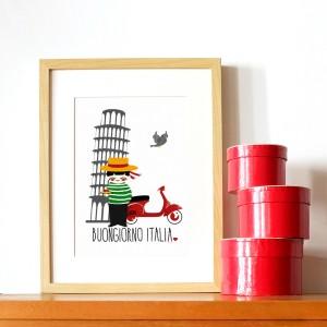 Affiche bonjour italie