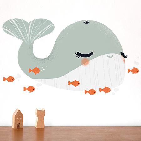 Stickers Les Animignons - la petite Baleine
