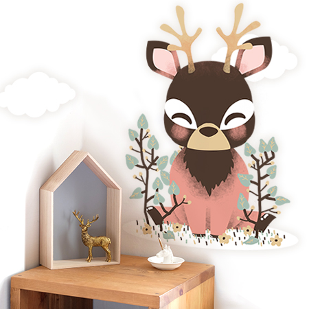 Stickers Les Animignons - le petit Cerf