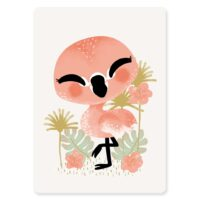 carte animignons flamant rose
