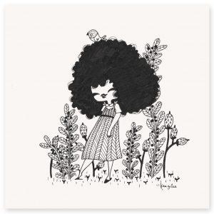 illustration originale Dans le jardin