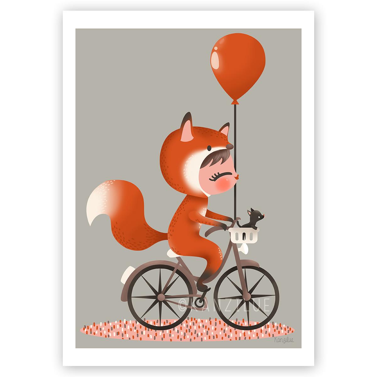 """affiche """"les adorables costumés - le renard"""""""