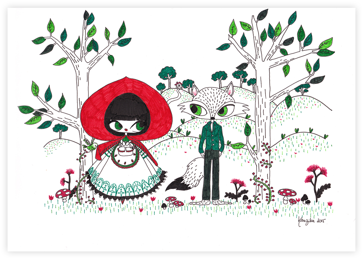 kanzilue - illustration le petit chaperon rouge