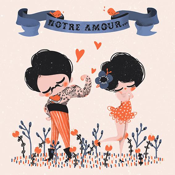Carte Editions Pictura Aquarupella Notre amour est le plus fort