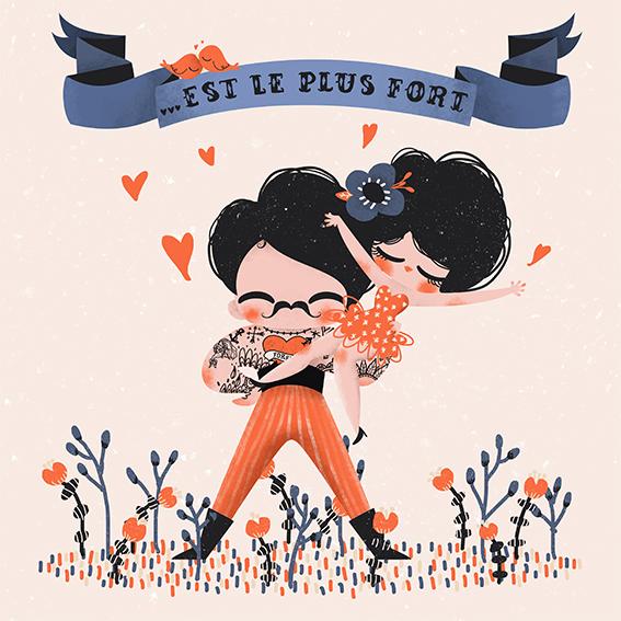 Carte Editions Pictura Aquarupella Notre amour est le plus fort 2