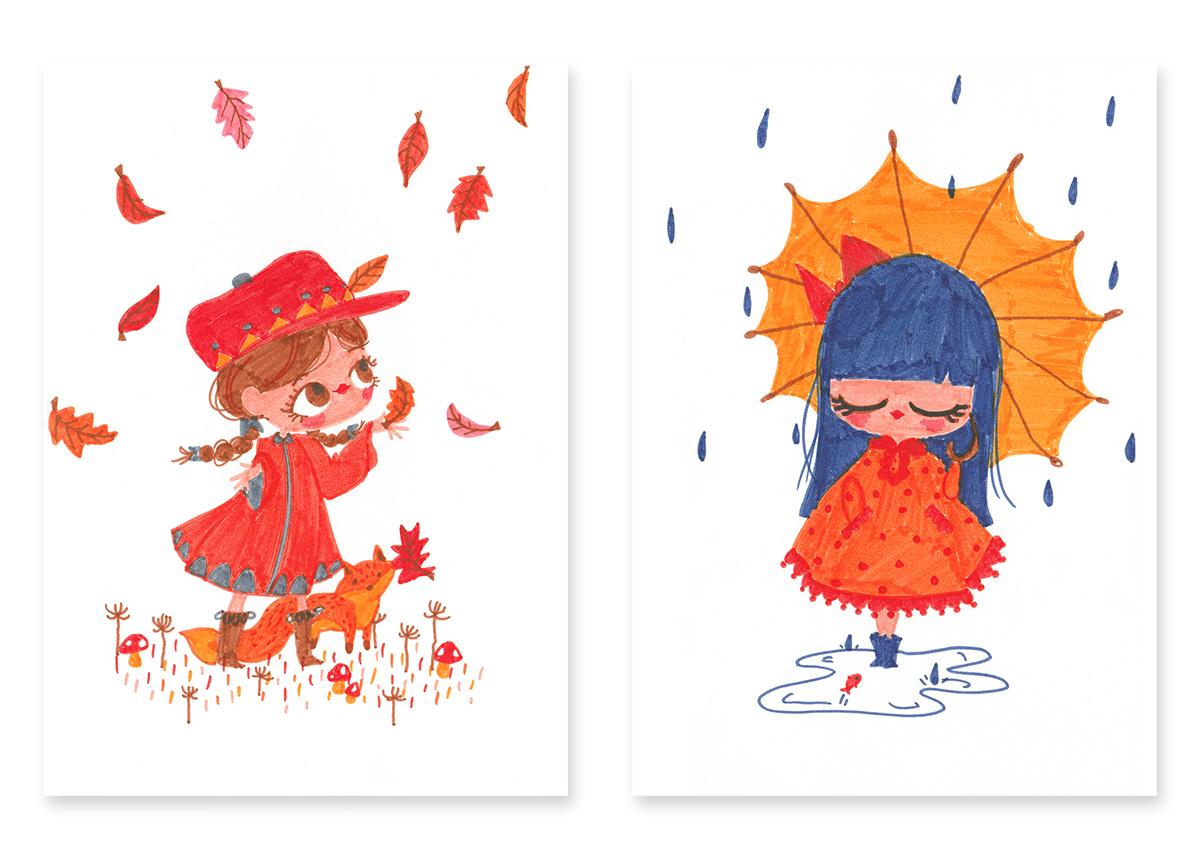 kanzilue - croquis d'automne