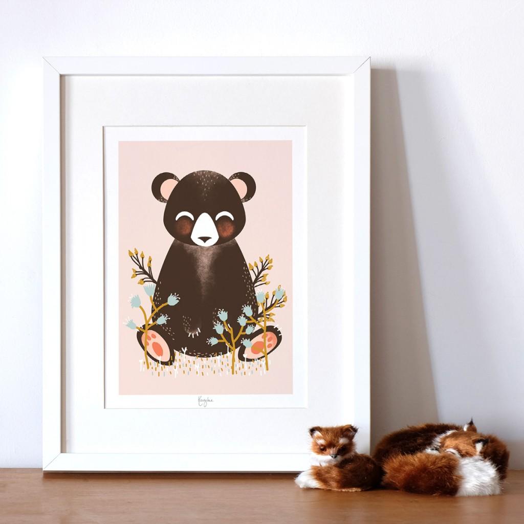Affiche les Animignons, l'ours
