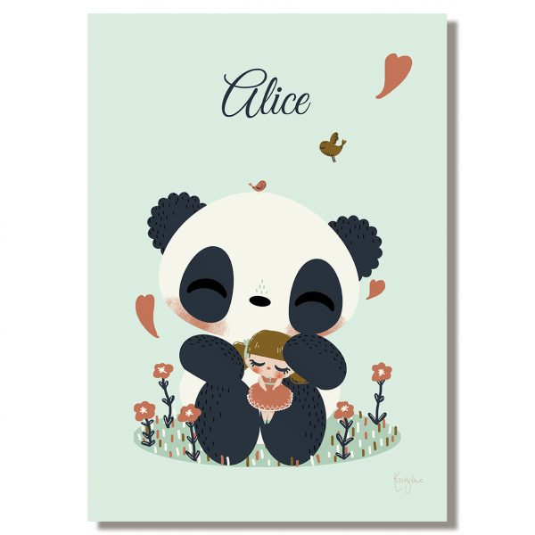 tableau enfant personnaliser le panda et l 39 enfant kanzilue la boutique part 1. Black Bedroom Furniture Sets. Home Design Ideas