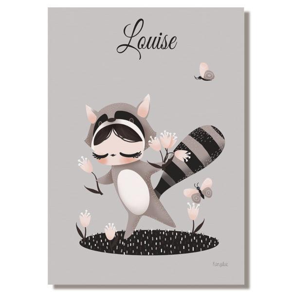 tableau enfant personnaliser les adorables costum s le raton laveur kanzilue la. Black Bedroom Furniture Sets. Home Design Ideas