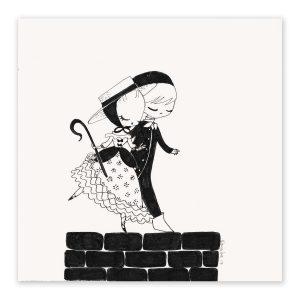 illustration originale – série Inktober 2017 – Jour 20 – La Bergère et le Ramoneur
