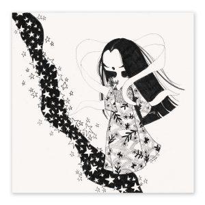illustration originale – série Inktober 2017 – Jour 21 – Tanabata